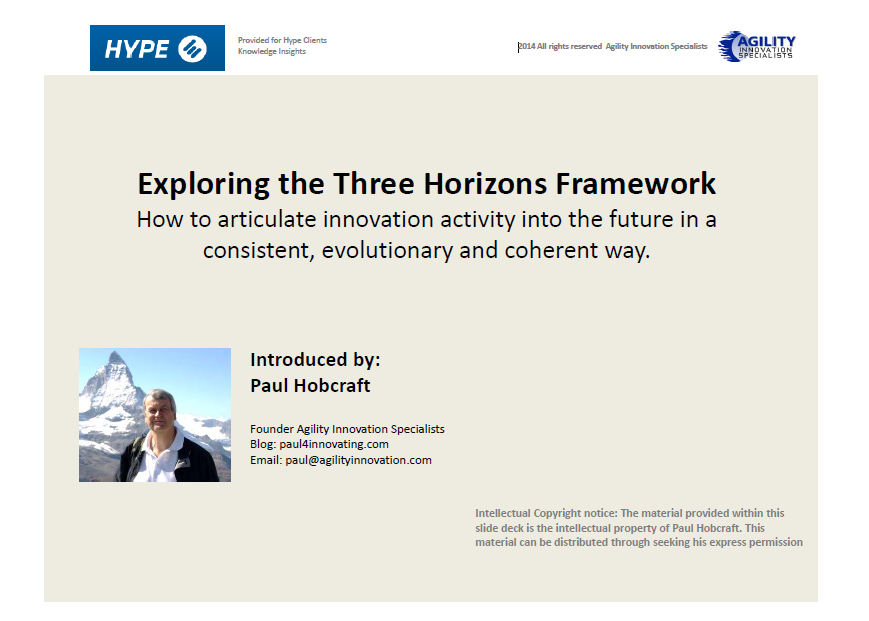 three horizons framework