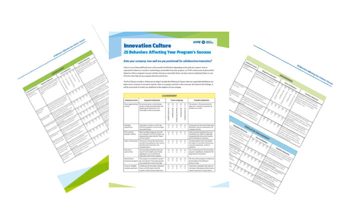 cover page of the 25 behaviors to assess your innovation culture report