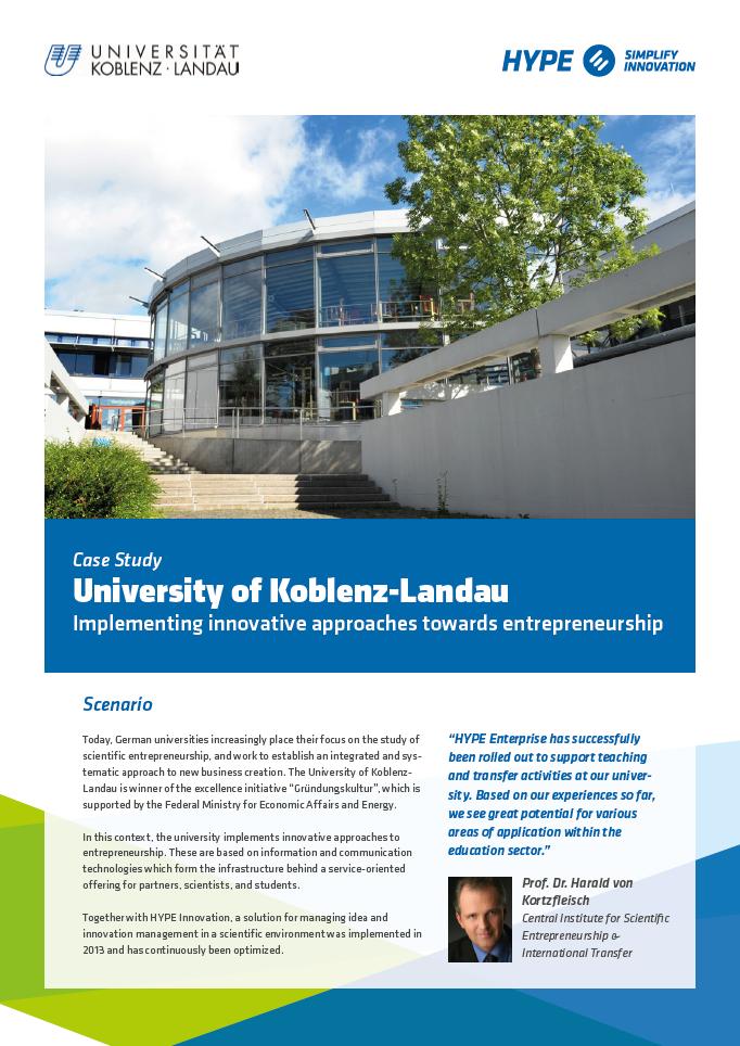 university of koblenz-landau case study