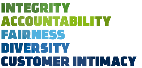 HYPE's Core Values: Integrity, Accountability, Fairness, Diversity, Customer Intimacy