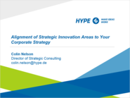 Webinar: Alignment of Strategic Innovation Areas to Your Corporate Strategy