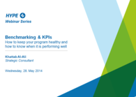 Benchmarking & KPIs