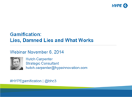 Gamification: Lies Damned Lies and What Works