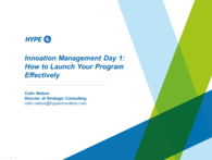 Innovation Management Day 1