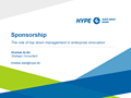 Sponsorship - The Role of Top-Down Management in Enterprise Innovation