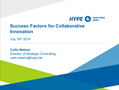 Success Factors for Collaborative Innovation