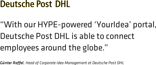 Opinion of DHL about HYPE Innovation management solutions