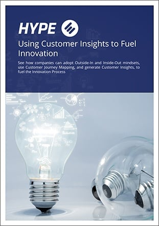 Cover page of the e-book about customer insights for innovation