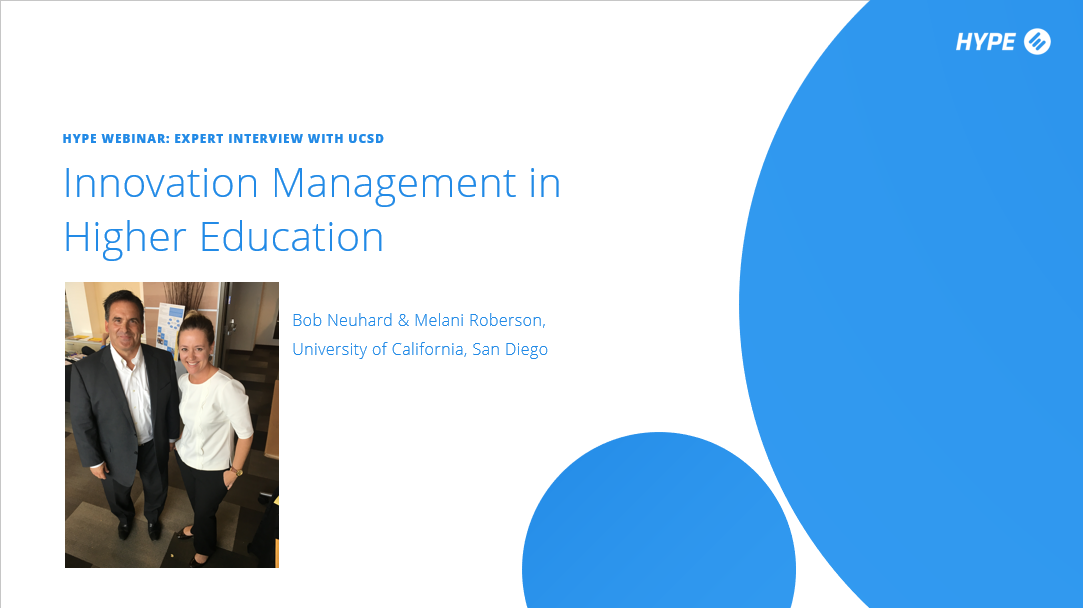 Panel Discussion: Innovation Management in Higher Education