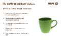 Coffee Break Webinar: Developing an Engaging and Sustainable Program
