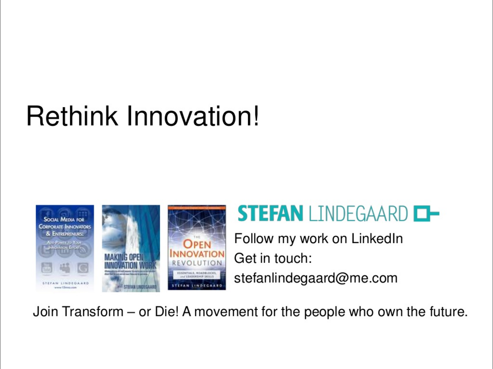 Stop Talking About Innovation!