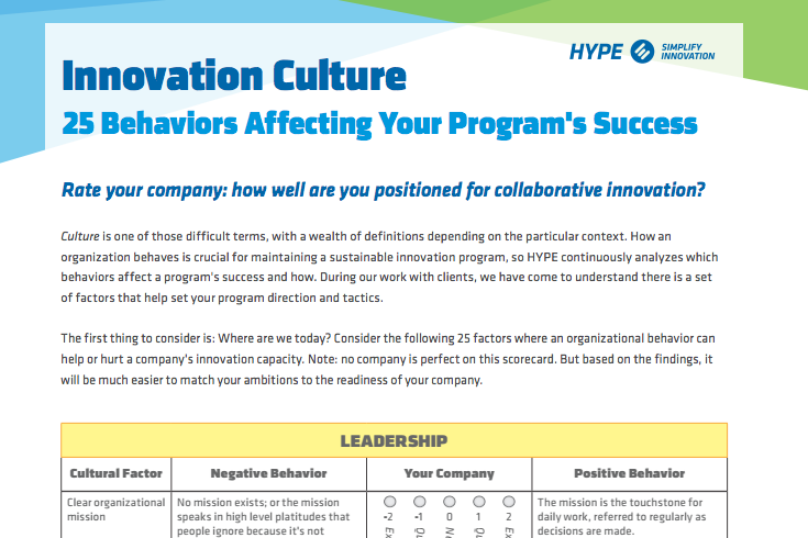 innovation culture self-assessment