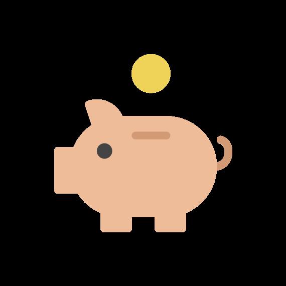 dessin d'une tirelire cochon