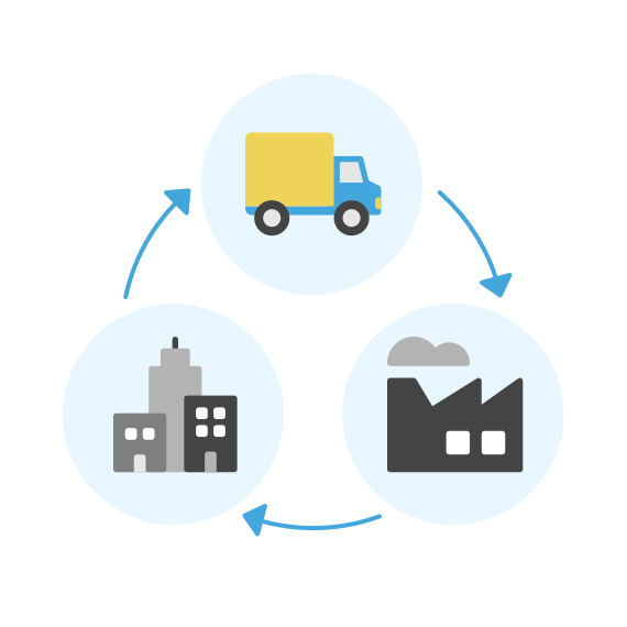 supply chain innovation icon