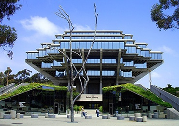 UCSD Library on the campus