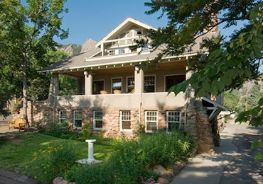 Community House in Chautauqua park in Boulder