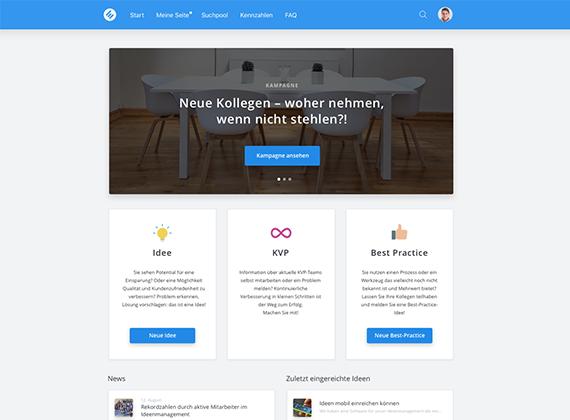 Screenshot of Improve, idea management platform