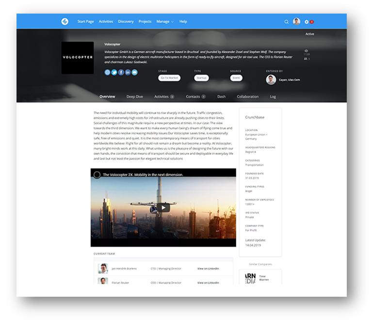 capture d'écran du logiciel de SURM de HYPE