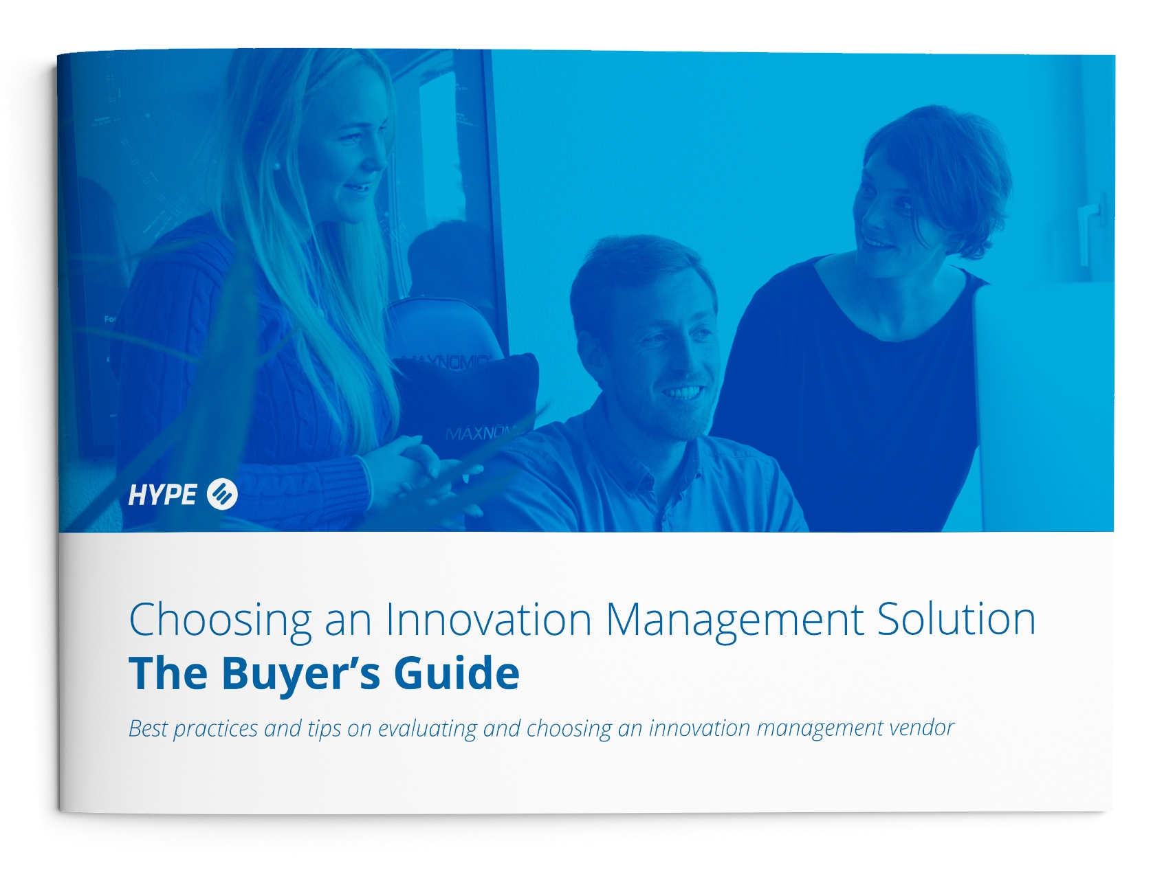 Mockup of the buyers' guide