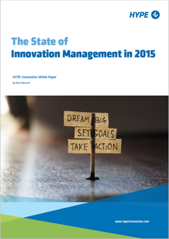 cover page of the report named the state of innovation management in 2015