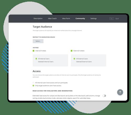 Configuration des droits d'accès à la plateforme