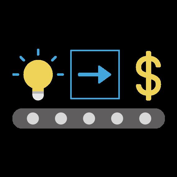 icône pour l'innovation de processus