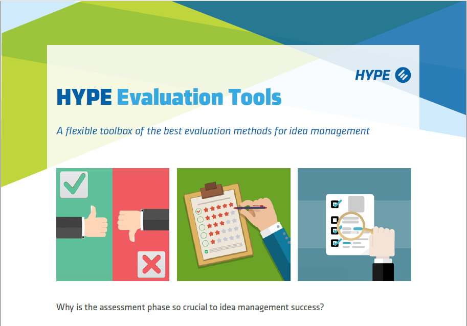 cover page of the HYPE evaluation tools brochure for innovation management