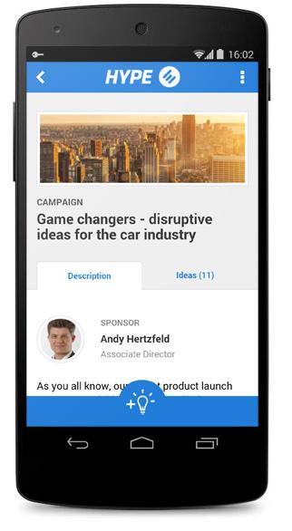 Idea Campaign in New Mobile App