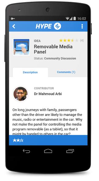 Idea in New Mobile App